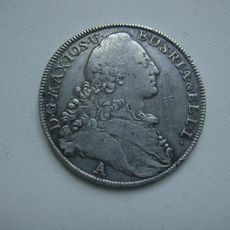 1 талер, Бавария-Патрона, 1776, серебро