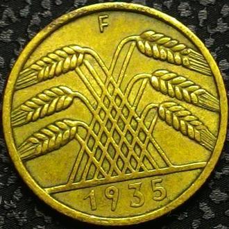 Германия 10 пфеннигов 1935 год F,  ТРЕТИЙ РЕЙХ!  СОСТОЯНИЕ!