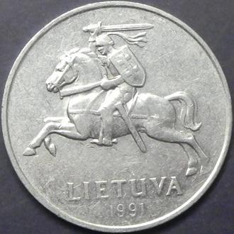 5 центів 1991 Литва