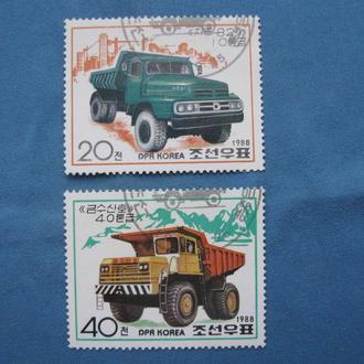 Корея. КНДР 1988 г. Транспорт. Полная серия. Гашеные