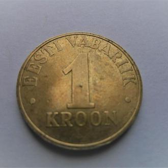 Оригинал. Эстония  1 крона 2003 год.