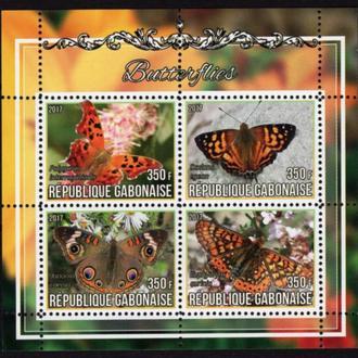 ГАБОН 2017 ** Фауна Бабочки Насекомые МЛ MNH