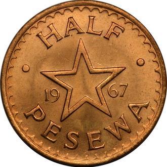 Гана 1/2 pesewa 1967  B266