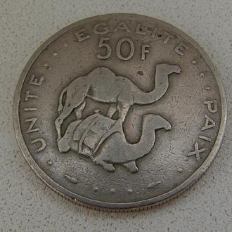 Джибути. 50 франков 1982 год