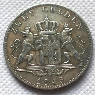 2 гульдены 1845 год Людвиг 1