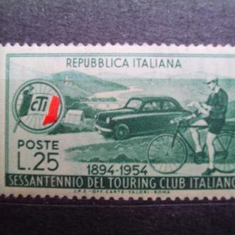 Италия.1954г. Авто- и велоспорт. Полная серия. MNH