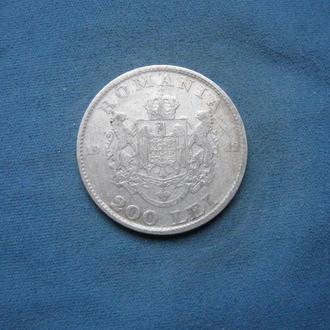 Румыния 200 лей 1942 год серебро