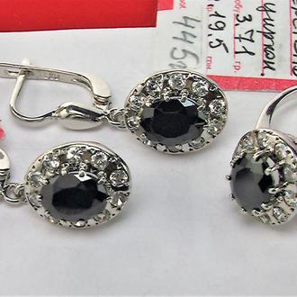Набор серьги кольцо перстень размер 19,5 новые серебро 925 проба 10,66 грамма