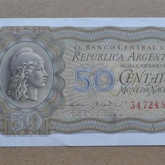 Аргентина 50 сентаво 1947 г aUNC №4