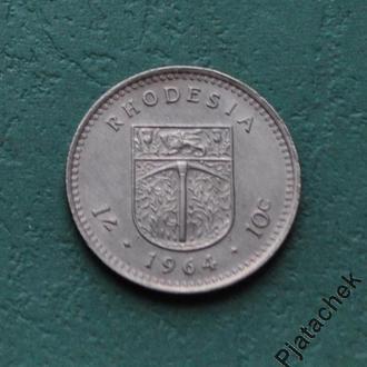 Родезия 10 центов 1964 №2