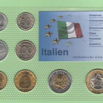 Набор монет ИТАЛИЯ набір Італія блистер запайка пластик