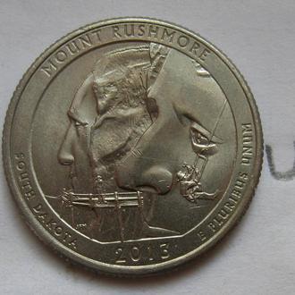 США, 25 центов 2013 года (MOUNT RUSHMORE).