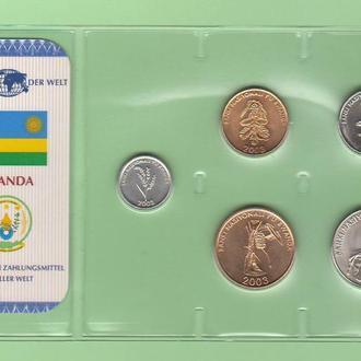 Набор РУАНДА из серии - Das Geld Der Welt - пластик блистер запайка набір
