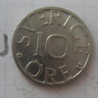 ШВЕЦИЯ, 10 эре 1986 года (состояние).