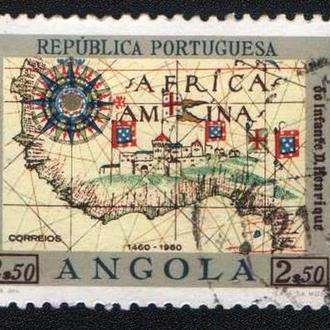 Ангола (1960) Колония Португалии. 500-летие со дня смерти принца Генриха Мореплавателя