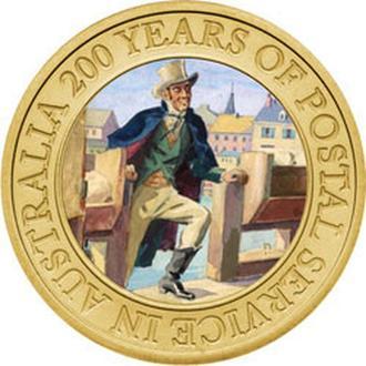 АВСТРАЛИЯ. The Perth Mint. 2009. 1$.200 Years Australian Post.