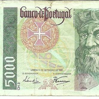Португалия 5000 эскудо 1997г.
