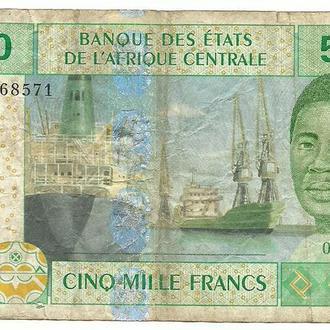 5000 франков КФА Центрально - Африканский Союз