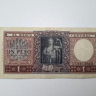 Аргентина. 1 песо  1956 год.