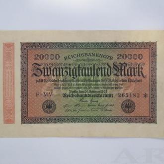 Рейх банкнота 1923г  состояние