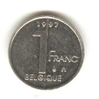 1 бельгийский франк 1997