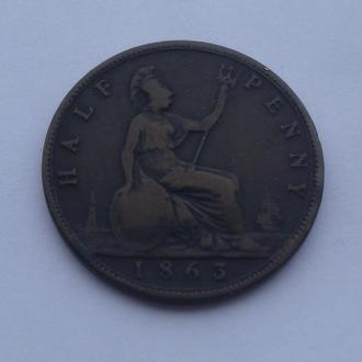 1863 г - пол пенни Великобритании