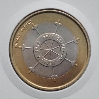 Словения 3 евро 2012 г., UNC, '100 лет первой олимпийской медали Словении'
