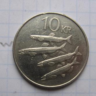 ИСЛАНДИЯ, 10 крон 1984 года (РЫБЫ).