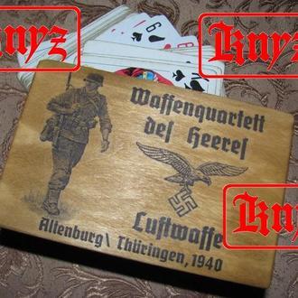 """Футляр для игральных карт """" für die Luftwaffe"""""""