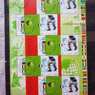 футбол ЧМ 2002 Франция лист**