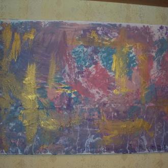 Картина - Абстракция. Интересная! 70*50 см.