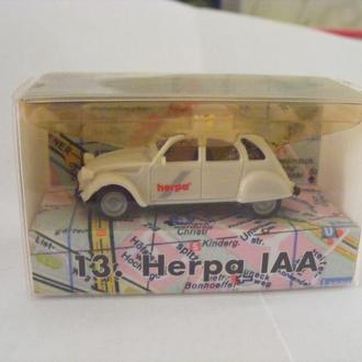 Автомобиль  Citroen 2CV 6 Taxi 13. IAA 1996 Herpa -1:87(HO)