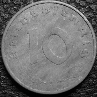 Германия 10 пфеннигов 1942 A год СВАСТИКА!!