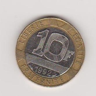 1992 Франция 10 франков