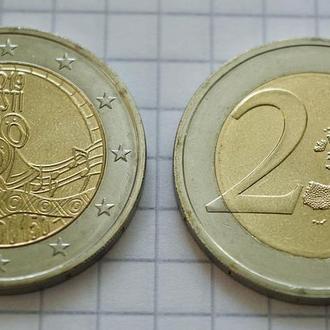 Эстония 2 евро, 2019, 150 лет первому Эстонскому празднику песни.