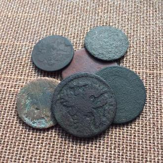 Царская медь 6 монет на опыты