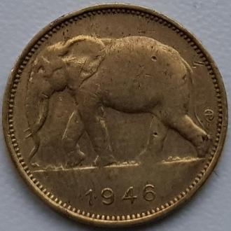 Бельгийское Конго 1 франк 1946 ОТЛИЧНАЯ!!!!