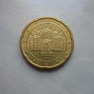 Австрия 20 евроцентов 2003