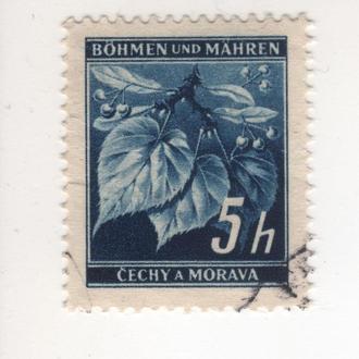 Богемия и Моравия 20 A1 5h dark blue