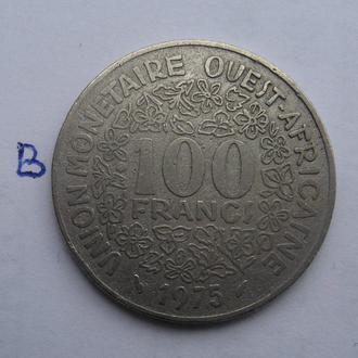 ЗАПАДНАЯ АФРИКА, 100 франков 1975 года.