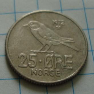 Норвегия 25 эре - 1972