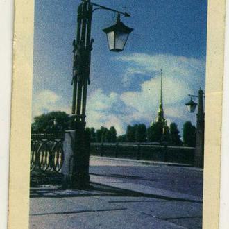 карманный календарик Ленинград Иоанновский мост у Петропавловской крепости 1969 г.