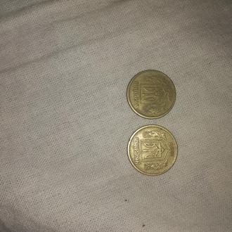 2  редких монеты по 10 копеек 1994 года