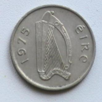 5 Пенсов 1975 г Ирландия 5 Пенсів 1975 р Ірландія
