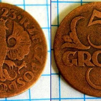Польша 5 грош 1923