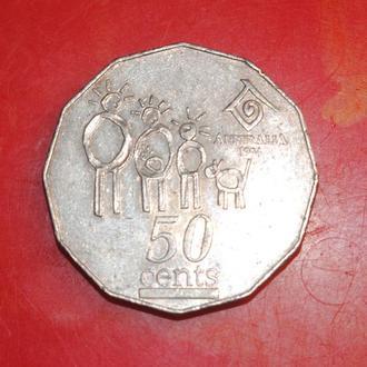 50 центов 1994 г Австралия