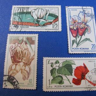 Флора Квіти Цветы Румунія Румыния 1965
