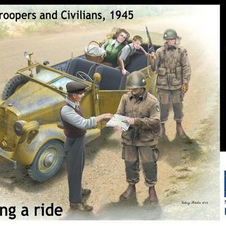 Master Box 35161  Германские гражданские и американские десантники