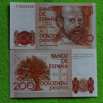 Испания 200 песет 1980 UNC