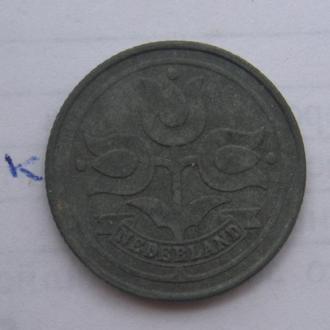 НИДЕРЛАНДЫ. 10 центов 1942 г. (ТЮЛЬПАНЫ).